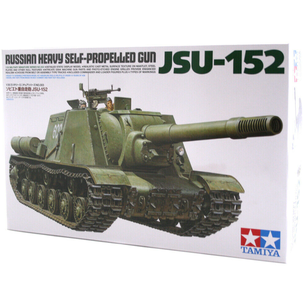 Tamiya JSU-152 Heavy Russian Heavy Gun Model Kit (Scale 1 35) - 35303
