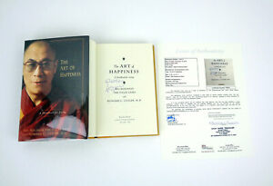 His Holiness The Dalai Lama Signed Autograph The Art Of Happiness Book JSA COA