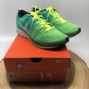 new arrivals f2200 c956f Image is loading Nike-Flyknit-Trainer-Atomic-Teal-Volt-532984-713-
