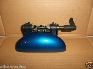 PEUGEOT-206-HATCH-NEARSIDE-PASSENGER-SIDE-REAR-EXTERIOR-DOOR-HANDLE-BLUE-KMF