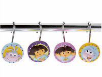 Dora The Explorer & Boots Paisley Shower Curtain Hooks Nickelodeon