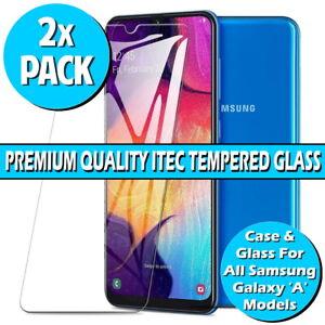Gorilla Glass Screen Protector For Samsung Galaxy A10 A20/E A40 A50 A70 Gel Case