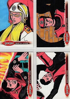 Captain Scarlet Adam /& Bekah Cleveland Sketch Card Selection Unstoppable Cards.