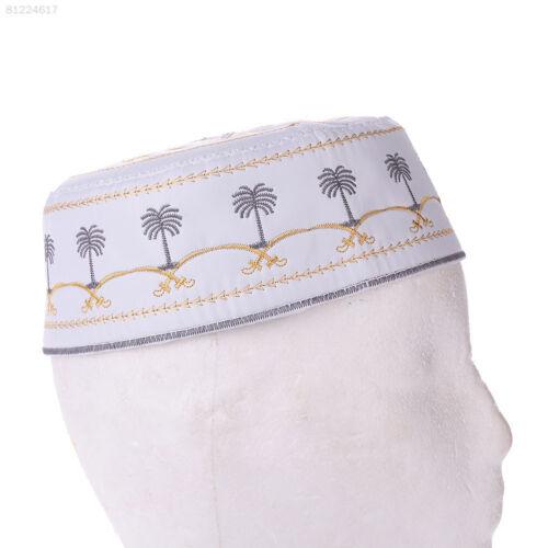 3993 3EF4 Boy Men Kufi koofi Hat Skull Cap Beanie Islamic Muslim Prayer Head Hot