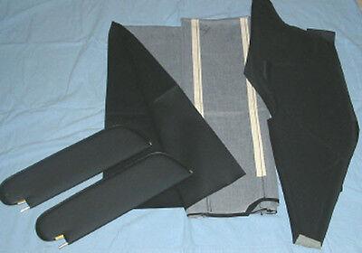 1970-72 cutlass 442  single post sun visors /& headliner kit white non perforated