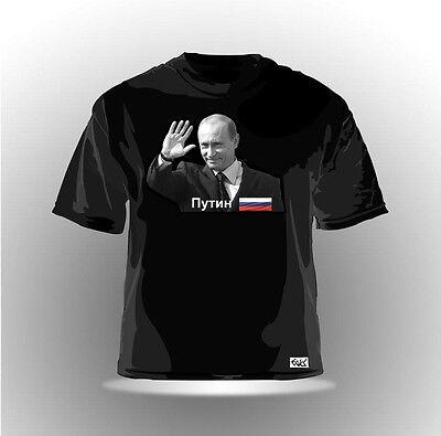 EAKS® HERREN T-SHIRT PUTIN Schwarz 12 Путин Russland Россия Russia Moskau moscow
