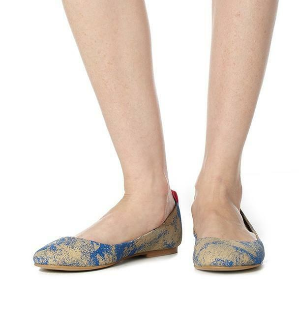 Shanti Flat in Blue by Olsenhaus Size 9.5 & 10 Available