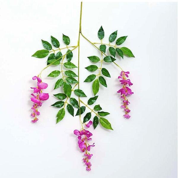 Artificial Wisteria Flowers Vine Silk Flower Wedding Garden Hanging Home Decor