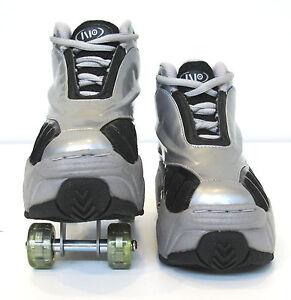 Quad KICK ROLLER Skates retractable WALKnROLL in/outdoor ORIGINAL BNIB SLV/GREY