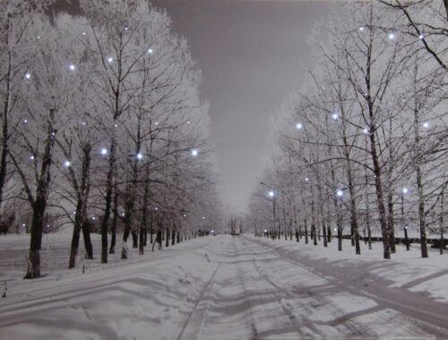 LED Fensterbild 30 x 40 x 1,5cm Wandbild Bild Leinwand Weihnachten