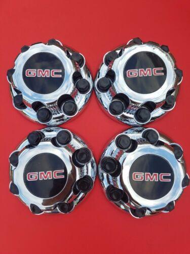 "4 PCS GMC Sierra Yukon VAN 1500 2500 3500 16/"" Wheel Center Caps CHROME 8 LUG NEW"