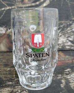 Spaten-Munchen-Beer-Stein-Mug-5-Liter-Dimpled-Clear-Glass-Austria