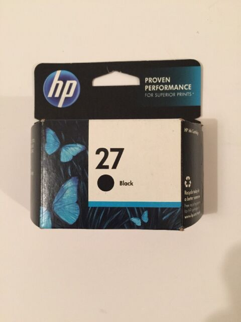 HP 27 Black Ink C8727AN  New Genuine Factory Sealed Box Expiration June 2014