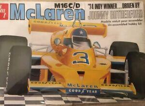 AMT-1974-McLaren-M16-C-D-Indy-500-Winner-1-25-Scale-FACTORY-SEALED
