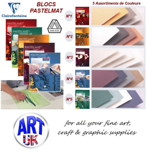 Clairefontaine Professional Art PASTELMAT Gummed Pad in Assorted Colours & Sizes