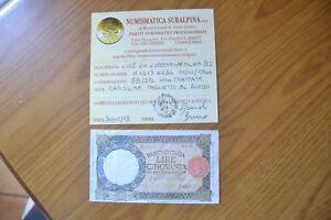 LIRE-50-LUPA-CAPITOLINA-BI-1-2-1944-RARISSIMA-certificata-BB-SPL-SUBALPINA