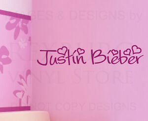 Wall-Decal-Quote-Sticker-Vinyl-Art-Lettering-Letter-Decoration-Justin-Bieber-B76