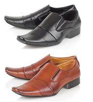 SF Mens Italian Designer Inspired Smart Office Formal Wedding Slip On Shoes