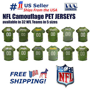 NFL-Camouflage-Jersey-for-DOGS-amp-CATS-Licensed-NEW-32-Teams-5-Sizes-available