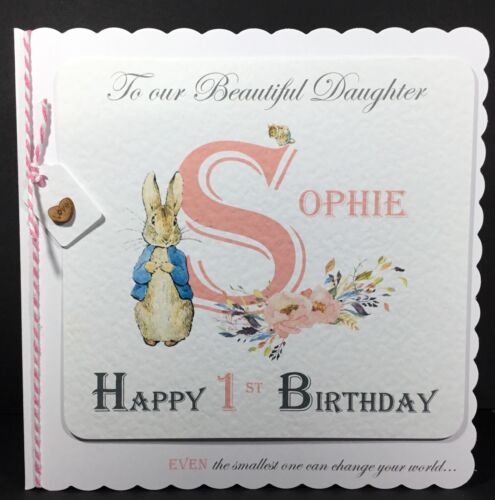 Handmade Personalised Birthday Card Son Sister 1 2 3 Granddaughter Daughter