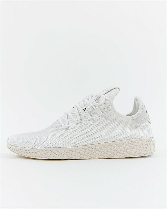 Adidas Pharrell Williams Tennis Hu B41792 Triple White Unisex SZ 5-13 US Knit DS