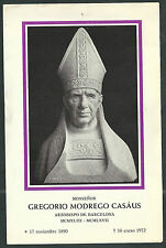 Estampa antigua del Padre Gregorio andachtsbild santino holy card santini