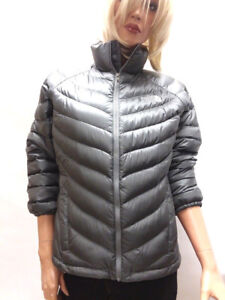 d1689db57 Details about THE NORTH FACE WOMEN NEW DOWN JACKET GRAY WARM AUTUMN SPRING  SHORT SLEEVE M