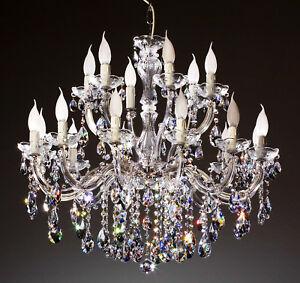 lustre venitien grand luxe 75 18 feux pampilles cristal swarovski ebay. Black Bedroom Furniture Sets. Home Design Ideas
