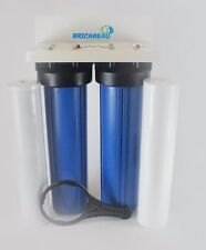 """Dual Stage 20"""" Big Blue Whole House Water Filter Sediment & Carbon Block Filters"""