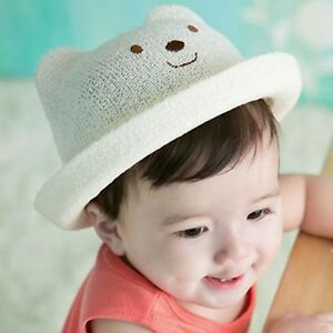 Popular Summer Beach Children Kids Baby Straw Bear Ear Bucket Sun ... 8916a16928a