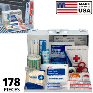 First Aid Kit Box For Car Vehicle Truck Home Medical Emergency Set Heavy Duty