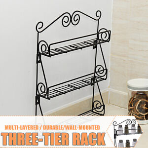 3-Tier-Kitchen-Bottle-Spice-Rack-Jar-Holder-Storage-Shelf-Organizer-Wall-Mount
