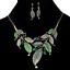 Fashion-Women-Rhinestone-Crystal-Choker-Bib-Statement-Pendant-Necklace-Chain-Set thumbnail 2