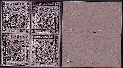 Zeitungen N ° 3 Vierzeiler Mnh/ Sie Stempel Bolaffi Briefmarken PräZise 1855 Modena