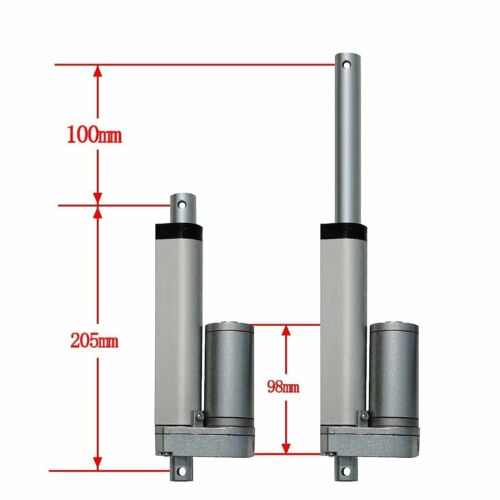 DC12V 24V 1500N Electric Linear Actuator Cylinder Lift Stroke 50-600mm 6mm//s