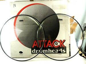 """NEW Attack Ocheltree No Overtone Bass Drumhead Pack 24/"""""""