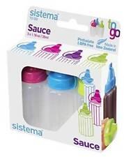Sistema Plastic Sauce/Dressing Bottles (3 Pack), 35ML, NEW