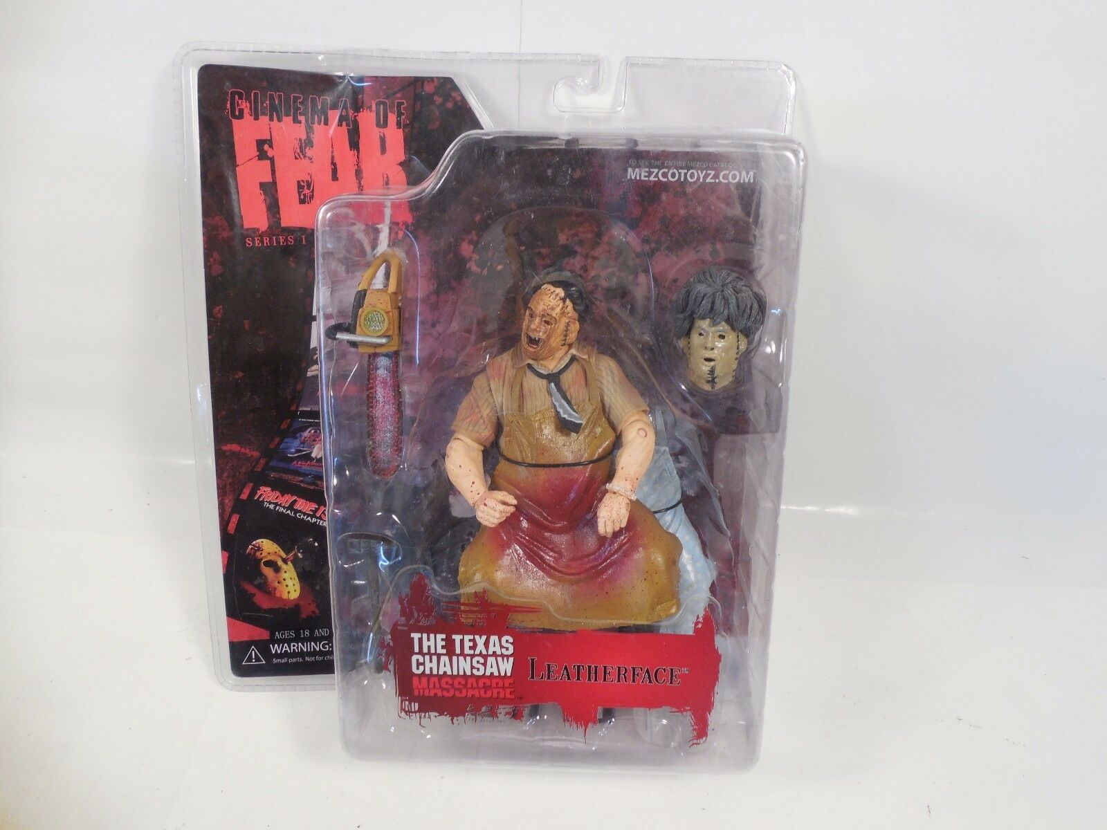 CINEMA OF FEAR SERIES 1 TEXAS CHAINSAW MASSACRE LEATHERFACE FIGURE SEALED MEZCO