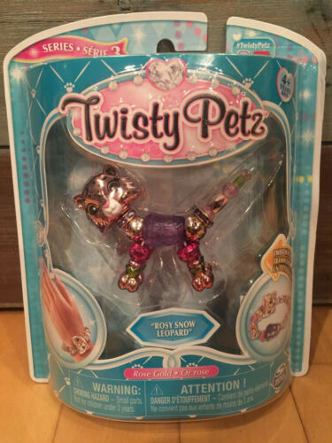 Twisty Petz Rosy Snow Leopard Metallic Rose Gold Pink Series 3 Figure Bracelet