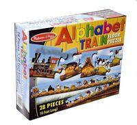 Melissa And Doug Alphabet Train Floor Puzzle , New, Free Shipping