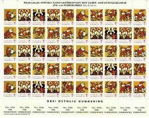 s26891) SWEDEN 1978/79 MNH** Tubercolosis Christmas Sheet God Helg cinderella