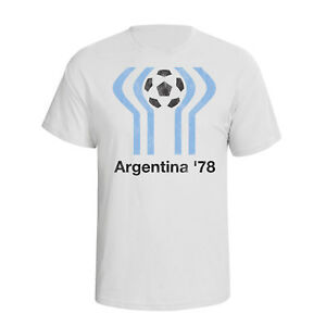 3bc4a7bb5e5 Argentina 78 Mens T-Shirt classic FOOTBALL world cup Retro distress ...