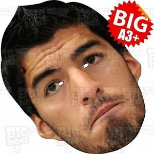 Image is loading LUIS-SUAREZ-Face-Mask-BIG-A3-or-LIFE-  sc 1 st  eBay & LUIS SUAREZ Face Mask BIG A3 or LIFE SIZE- BARCELONA WORLD CUP MESSI ...