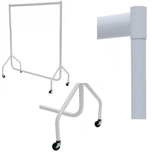 SUPER Heavy Duty WHITE Clothes Rail Storage Hanging Display 2ft 3ft 4ft 5ft 6ft