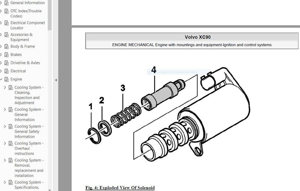 Værkstedshåndbog, Volvo XC90