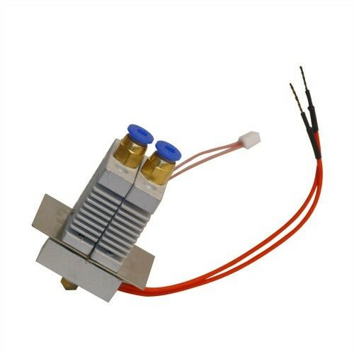 Hotend Dual Extruder 2 in 1 out  Mix Color for Geeetech A10M A20M  0.4mm Nozzle