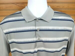 Adidas-Climacool-Golf-Polo-Short-Sleeve-Shirt-Mens-Sz-L-Gray-Blue-White-Accents