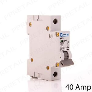 40 AMP MINI CIRCUIT BREAKER TYPE B Trip Switch B40