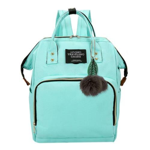 Solid Color Mommy Maternity Travel Backpacks Big Baby Nursing Diaper Bag Tote UK