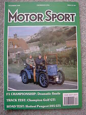 Motor Sport (Dec 1989)  205 GTI 1.9, Golf GTi, BMW M5, Australia & Japan GPs